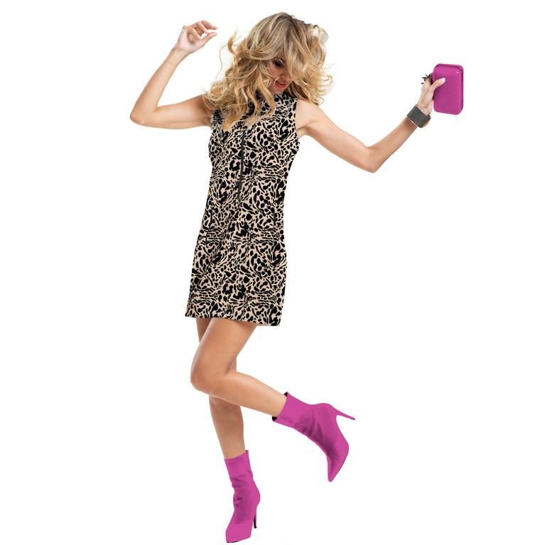 Venus Collection: Sleeveless Leopard Print Dress