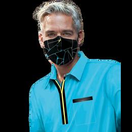 J-MENS Crackle Aqua Print Mask