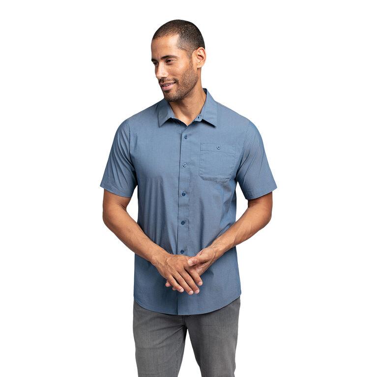 The Take Away Short Sleeve Heathered Woven Shirt