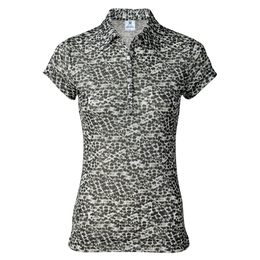 Natural Collection: Leonie Short Sleeve Leopard Print Polo