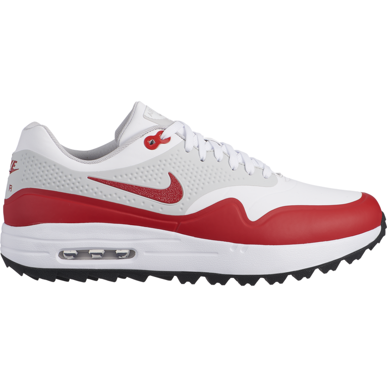 Air Max 1 G Men's Golf Shoe - White/Red