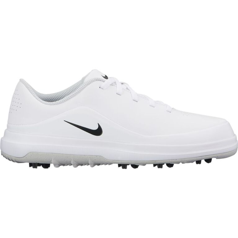 Nike Precision Junior Golf Shoe - White/Silver