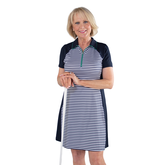 Alternate View 1 of Appletini Collection: Short Sleeve Striped Dress