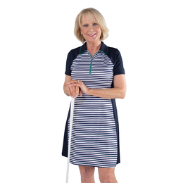 Appletini Collection: Short Sleeve Striped Dress