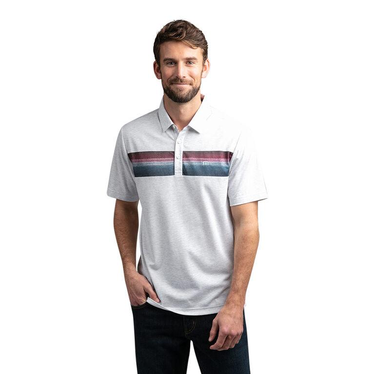 Fredo Short Sleeve Chest Stripe Polo