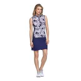 Skyline Collection: Dotted Floral Print Sleeveless Top