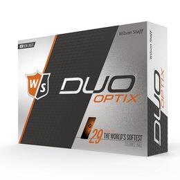 Wilson Staff DUO Soft Optix Orange Golf Balls - Personalized