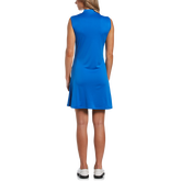 Alternate View 1 of Blue Geo Collection: Striped Sleeveless 1/4 Zip Golf Dress