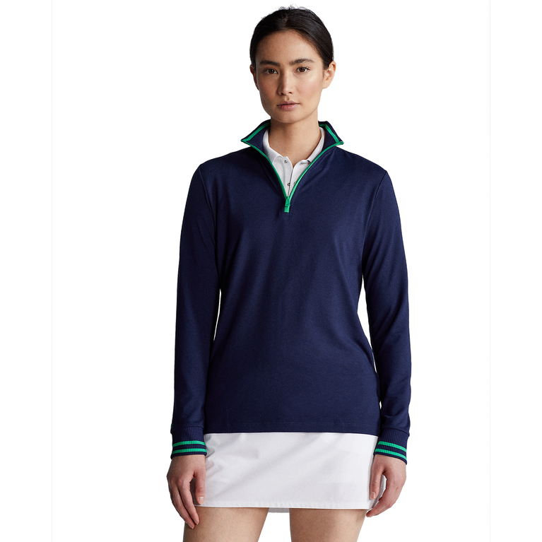 Performance Jersey Long Sleeve Quarter-Zip Pull Over