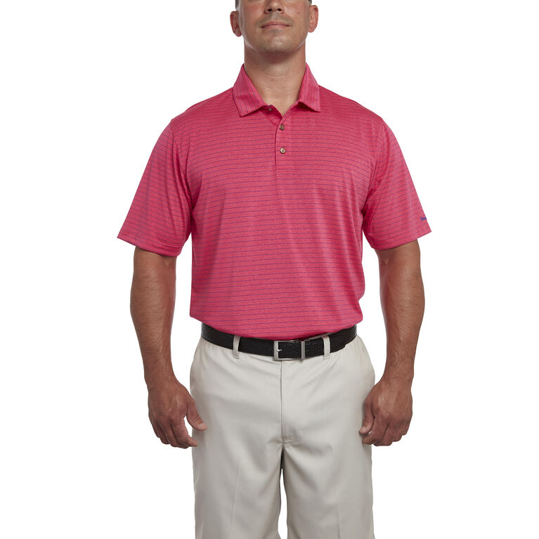 Heather Pinstripe Polo