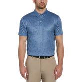 Geo Swing Print Short Sleeve Golf Polo Shirt