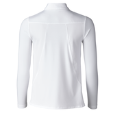 Alternate View 2 of Almond Collection: Michaela White Long Sleeve Polo