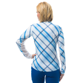 Alternate View 2 of SolCool Long Sleeve Hopscotch Plaid Quarter Zip Pull Over