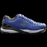 Wilson Rush Comp Men's Tennis Shoe - Blue/White