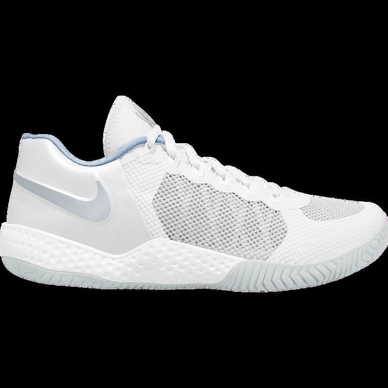 Flare 2 QS Women's Hard Court Tennis Shoe - White/Silver