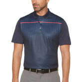 PGA TOUR Short Sleeve Tonal Diamond Motion Printed Polo