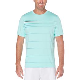 Stripe Front Panel Men's Short Sleeve Tee Shirt