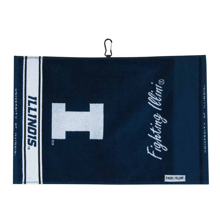 Team Effort Illinois Face/Club Jacquard Towel