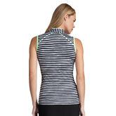 Tail Conley Sleeveless Stripe Polo