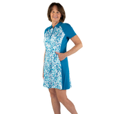 Alternate View 1 of Ocean Breeze Collection: Floral Print Short Sleeve Dress