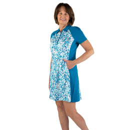 Ocean Breeze Collection: Floral Print Short Sleeve Dress