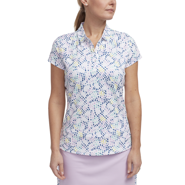 Limelight Collection: Short Sleeve Dot Print Polo