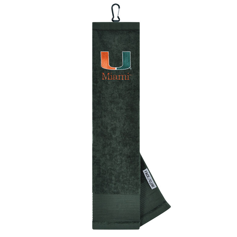 Team Effort Miami Hurricanes Tri-Fold Towel