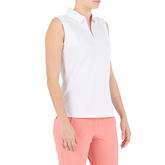 Alternate View 1 of Pink Art Collection: Sleeveless Jacquard Textured Polo