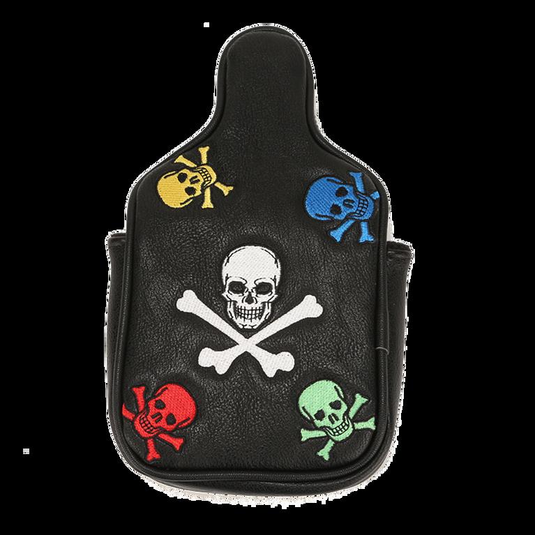 Leather Skull & Crossbones Mallet Putter Cover