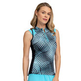 Into Blues - Blakely Impel Print Top