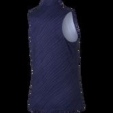 Sleeveless Diagonal Stripe Polo