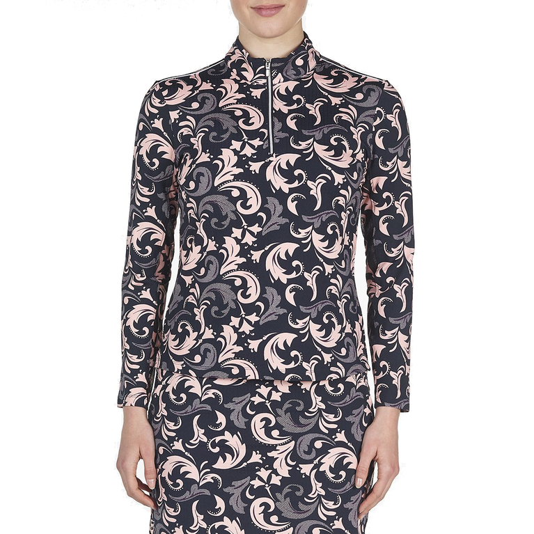 Twilight Collection: Paisley Print Lennox Mock Pull Over