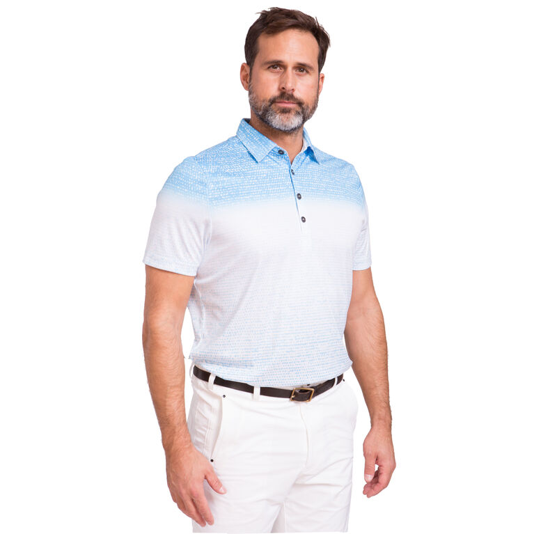 Short Sleeve Ombre Polo
