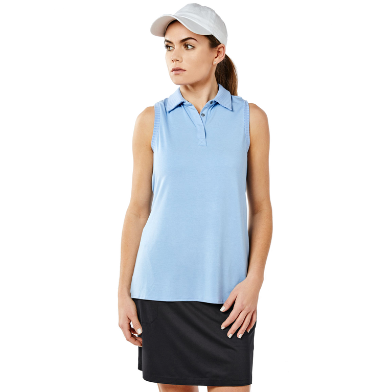 Carlisle Group: Sleeveless Rib Trim Polo