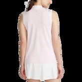 Alternate View 4 of Sleeveless Mesh Striped Quarter-Zip Polo Shirt