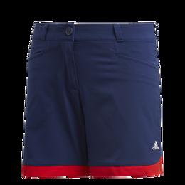Girls Colorblock Scalloped Golf Short