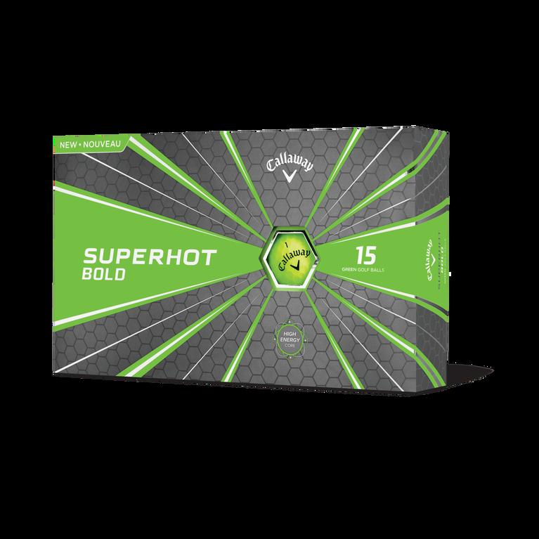 Superhot Bold Matte Green Golf Balls 15-Pack - Personalized