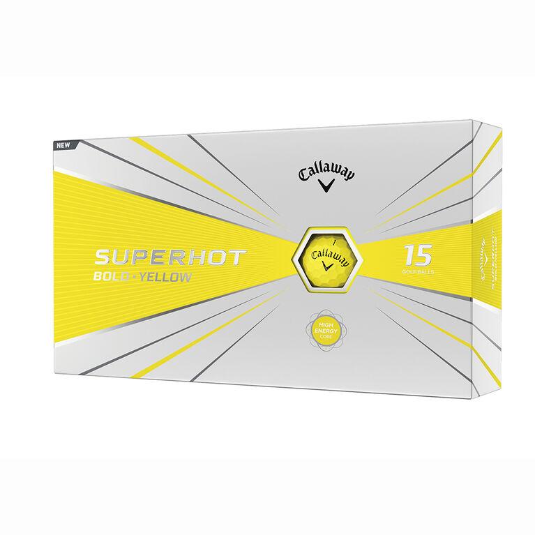 Superhot Bold Yellow Golf Balls - 15 Pack