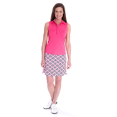 Golftini Sleeveless Ruffle Tech Polo