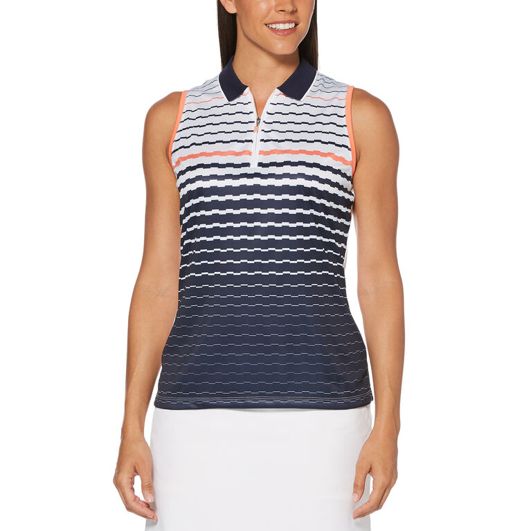 PGA TOUR Engineered Stripe Sleeveless Polo