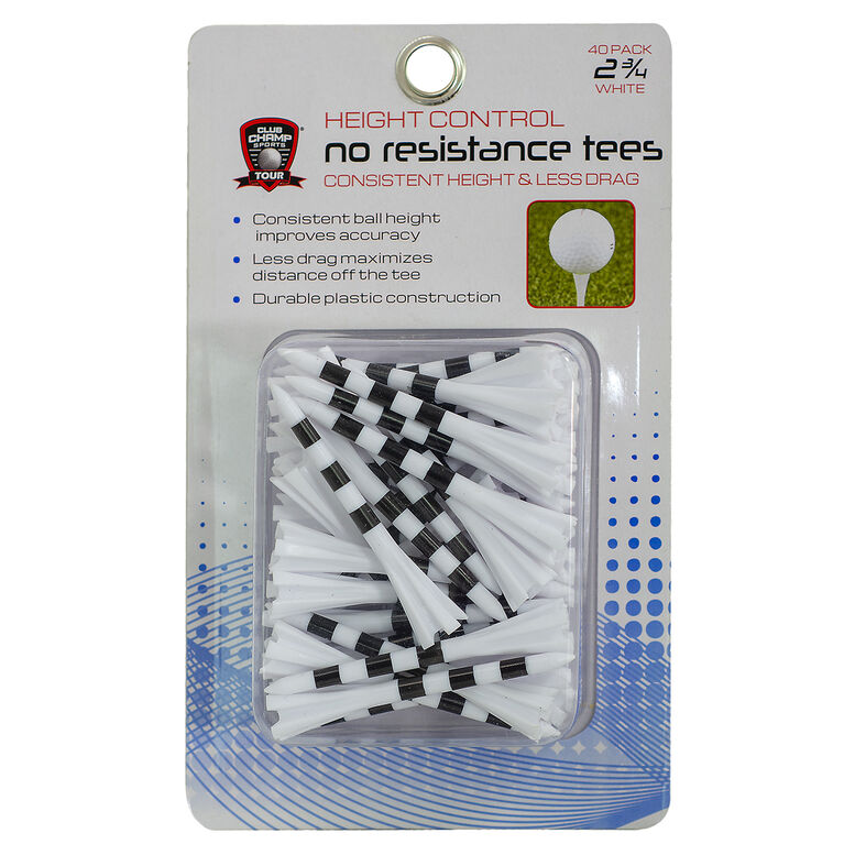 Golf Gifts & Gallery 2 3/4 inch Height Control No Resistance Tees - 40 Pack