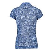Alternate View 2 of Ultra Group: Bella Blue Mesh Polo Shirt