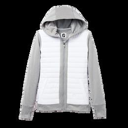Full Zip Women's Quilted Fleece Hoodie
