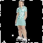 Alternate View 2 of Breathe Floral Print Short Sleeve Golf Shirt