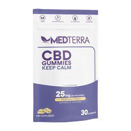 Keep Calm 25mg Tropical Fruit CBD Gummies 30ct