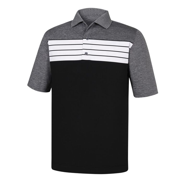 FootJoy Athletic Fit Stretch Lisle Color Block Polo
