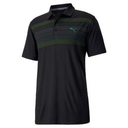 Road Map Chest Stripe Golf Polo