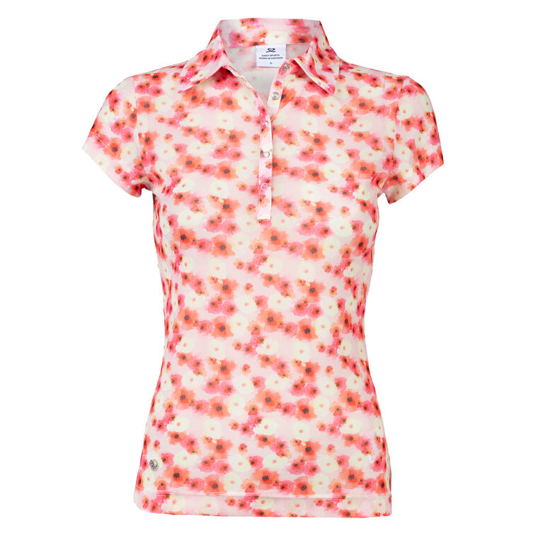 Poppy Group: Tori Blush Mesh Polo Shirt