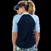 Alternate View 5 of NashVegas Collection: Short Sleeve Striped Rib Mock Polo Shirt