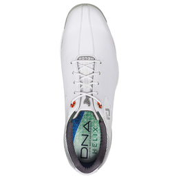 FootJoy D.N.A. Helix Men's Golf Shoe - White/Silver